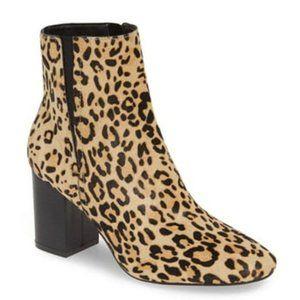 Halogen Abbi Block Heel Bootie Leopard